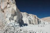 View of the gypsum quarry of Toconao