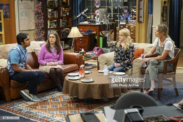 'The Gyroscopic Collapse' Pictured Rajesh Koothrappali Amy Farrah Fowler Bernadette and Penny After Leonard Sheldon and Wolowitz celebrate the...