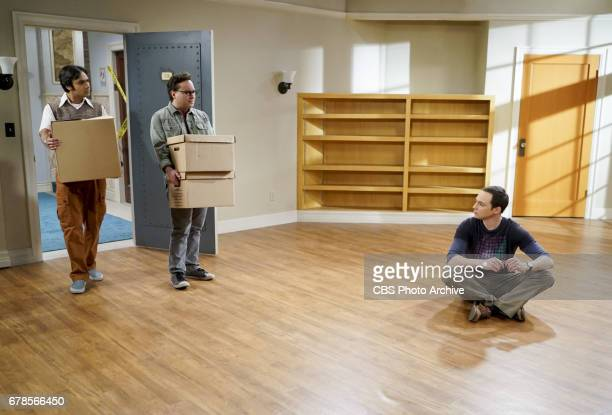 'The Gyroscopic Collapse' Pictured Rajesh Koothrappali Leonard Hofstadter and Sheldon Cooper After Leonard Sheldon and Wolowitz celebrate the...