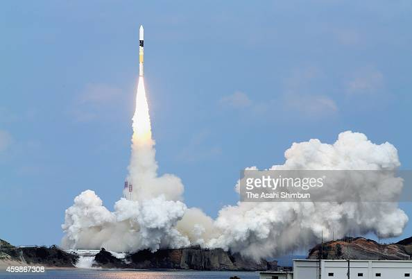 the H2A Launch Vehicle No 26 carrying Hayabusa 2 a robotic spacecraft of Japan Aerospace Exploration Agency lifts off from the launch pad at the...