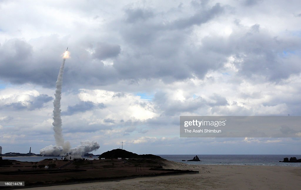 The H2A22 rocket developed by The Japan Aerospace Exploration Agency and Mitsubishi Heavy Industries Ltd lifts off from the launch pad at JAXA's...