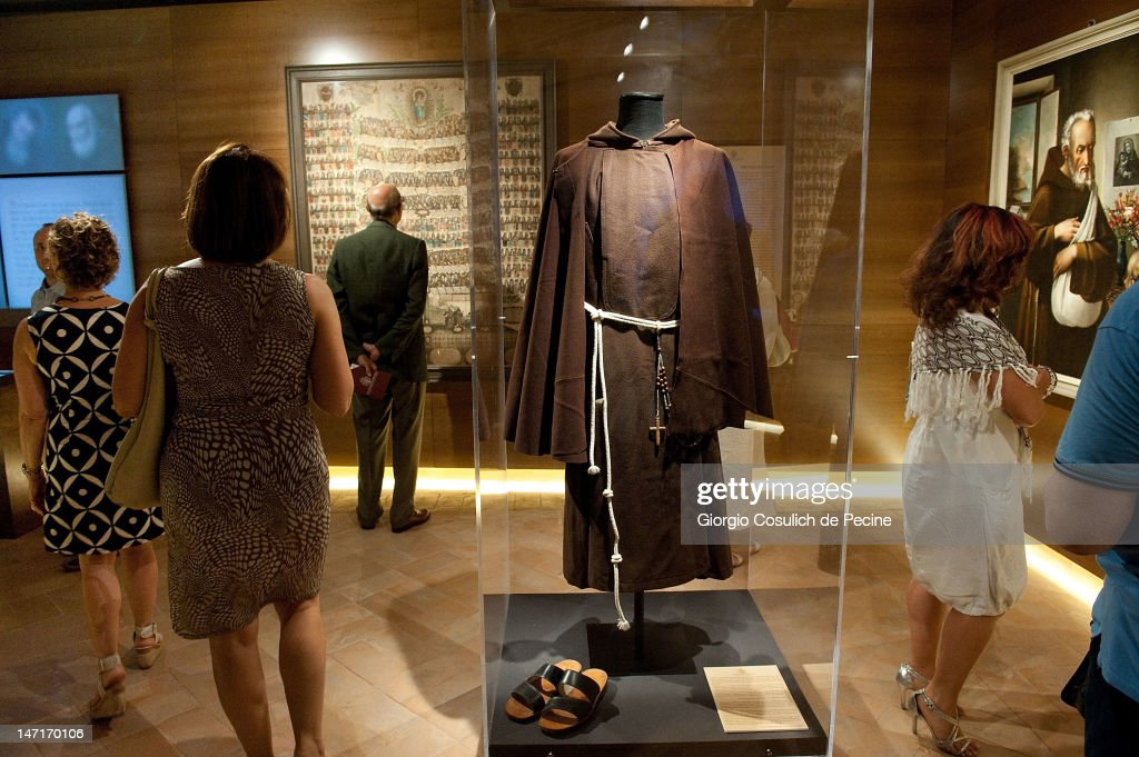 The habit of a Capuchin monk is displayed for visitors during the opening of the museum in the Capuchin convent of the Immaculate Conception of the Blessed Virgin Mary on June 26, 2012 in Rome, Italy. The monastery, which was first used by Capuchin monks and nuns in 1626, has become a destination for tourists from all over the world who visit an ossuary in the crypt which contains the skeletal remains of 3,700 monks.