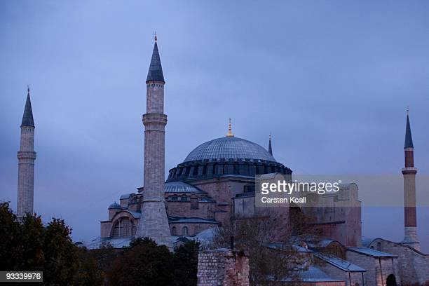 The Hagia Sophia church now a museum on October 17 2009 in Istanbul Turkey The Turkish metropolis on the Bosphorus in the past capital various...