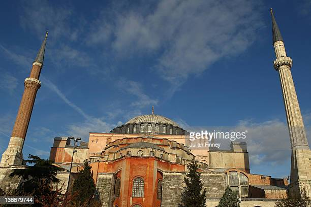 The Hagia Sophia church now a museum on October 23 2011 in Istanbul Turkey