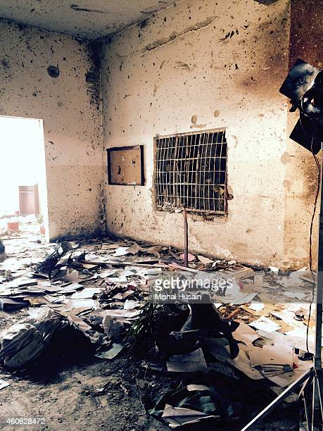 The hallway foyer of the admin block of an armyrun public school that was targeted by Taliban militants in a deadly assault that claimed the lives of...