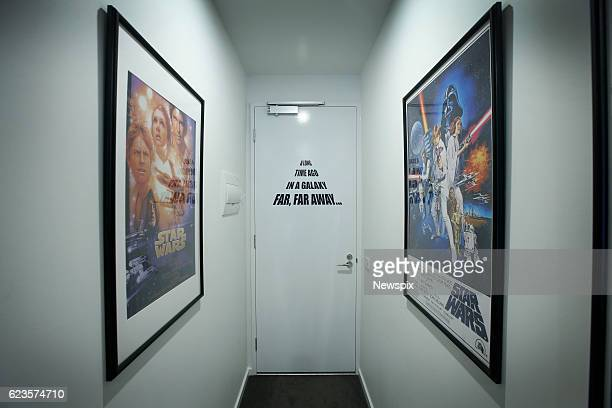 MELBOURNE VIC The hallway of Marini Tungka's 'Star Wars' themed AirBNB apartment in Melbourne Victoria The apartment is full of memorabilia posters...