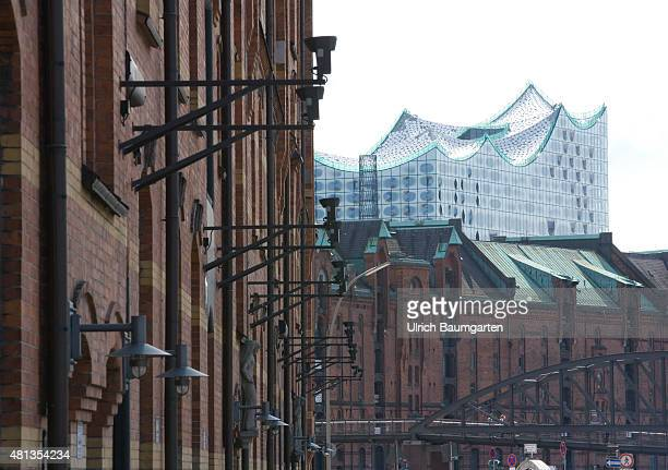 The Hamburg warehouse district since July 2015 UNESCO Heritage In the background the Elbphilharmonie