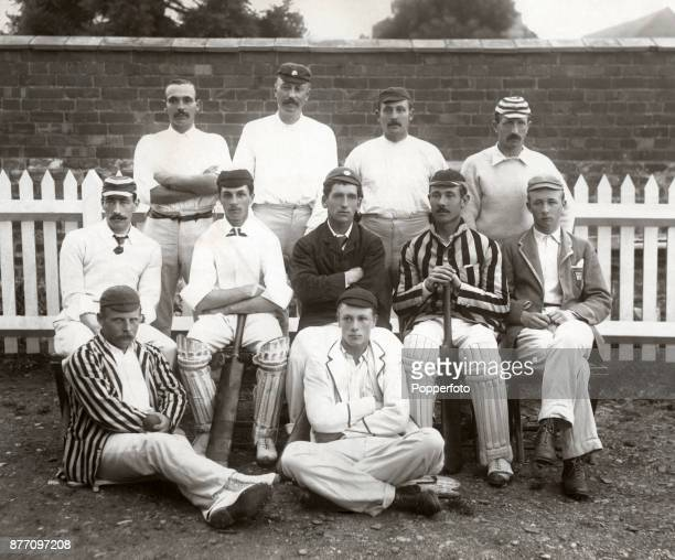 The Hampshire County Cricket team prior to their match against Somerset at Taunton on 19th August 1889 Somerset won by an innings and 34 runs Left to...