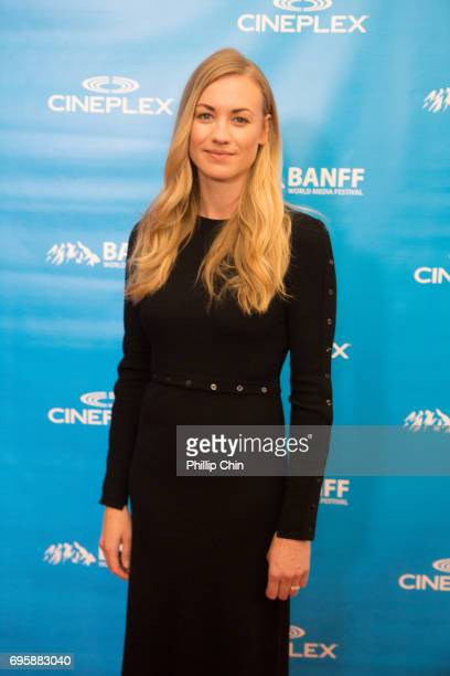 'The Handmaid's Tale ' Actor Yvonne Strahovski arrives at the Red Carpet for the Rockie Awards Gala Cermemony during the 2017 Banff Media Festival at...