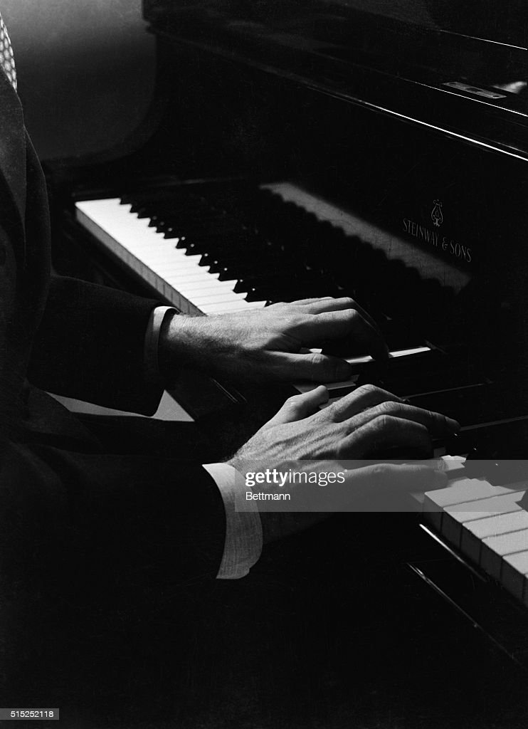 The hands of George Gershwin, (1898-1937), is shown here. He was an American composer and pianist.