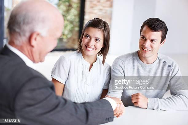 The handshake of business