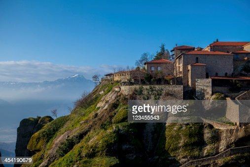 Appendere il Monastero di Meteora, Grecia : Foto stock