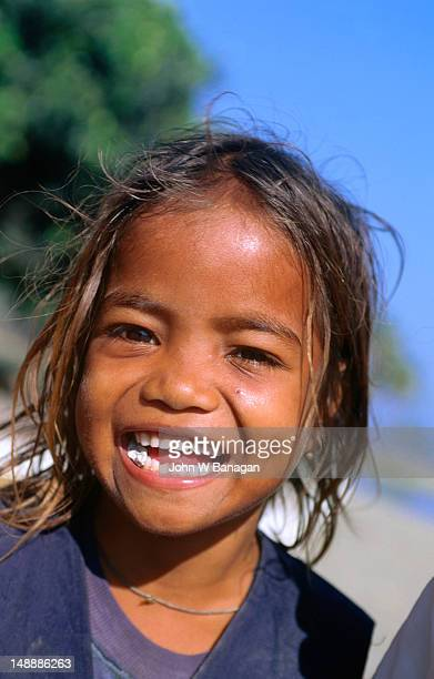 The happy face of a young East Timorese girl.