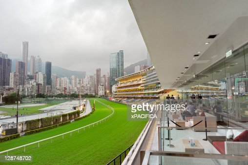 The Happy Valley race course in Hong Kong.