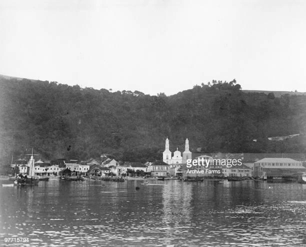 The harbor of St Pierre Martinique
