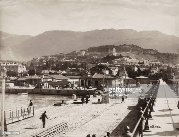 The harbour in Yalta in the Crimea southwestern Ukraine circa 1869
