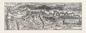The Harbour Of Annapolis Royal Canada 1870s Engraving