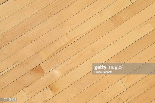 The hardwood floor at Madison Square Garden as photographed prior to the game between the New York Knicks and the Phoenix Suns on December 2 2012 in...