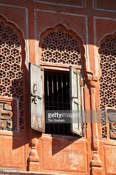 The harem Zenana Deorhi at The Maharaja of Jaipur's Moon Palace in Jaipur Rajasthan India