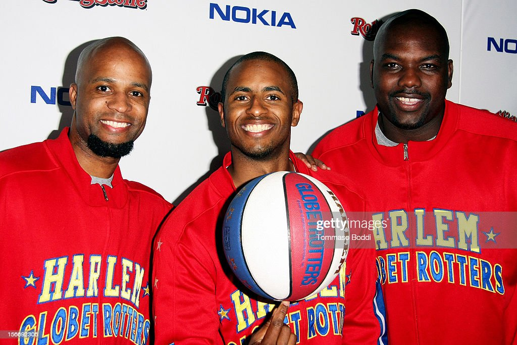 The Harlem Globetrotters attend the Rolling Stone after party for the 2012 American Music Awards presented by Nokia and Rdio held at the Rolling Stone Restaurant And Lounge on November 18, 2012 in Los Angeles, California.