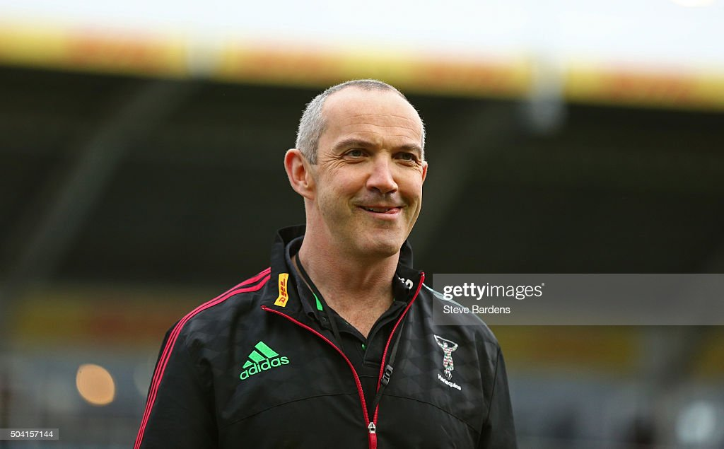 The Harlequins Director of Rugby Conor O'Shea prior to the Aviva Premiership match between Harlequins and Saracens at Twickenham Stoop on January 9...