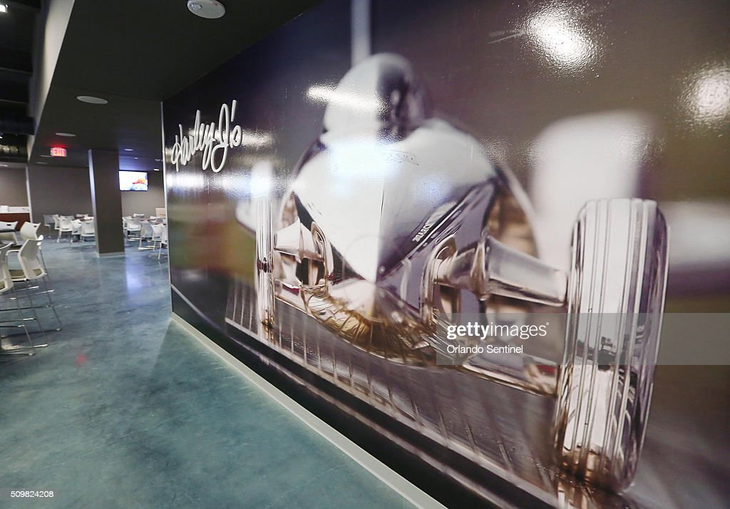 The Harley J's Restaurant is pictured inside the Daytona International Speedway Motorsports Stadium during an exclusive tour of the impressive new stadium facilities on Friday, Feb. 12, 2016 in Daytona Beach, Fla.