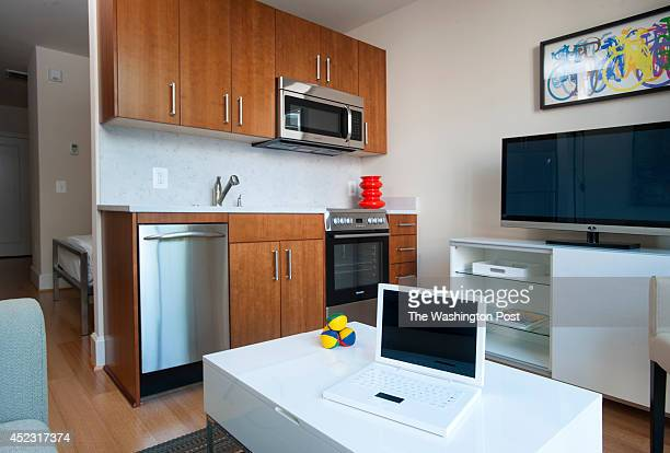 The Harper Apartments on 14th have small but livable space in the junior one bedroom unit that is 370 square feet as seen July 8 2014 in Washington...