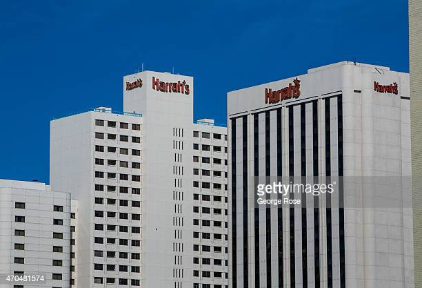 The Harrah's Hotel Casino in downtown is viewed on April 13 in Reno Nevada Reno located in the northwest corner of Nevada continues to struggle from...