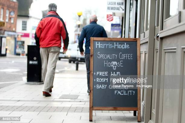 The Harris and Hoole coffee shop in WaltononThames Surrey which is part owned by Tesco as Tesco revealed its best UK sales growth in three years...