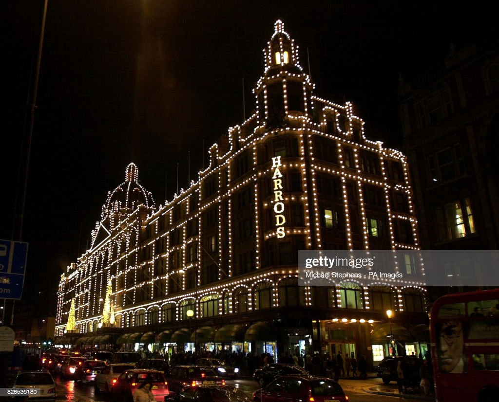 the harrods store in knightsbridge central london after the christmas lights were turned on by - Christmas Light Store