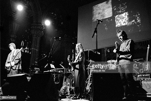 'The Harry Smith Project' produced by Hal Willner at St Ann's Church in Brooklyn on November 11 1999This imageSonic Youth from left Thurston Moore...