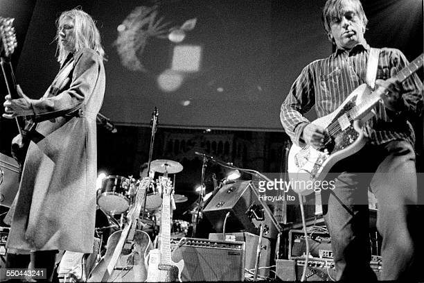 'The Harry Smith Project' produced by Hal Willner at St Ann's Church in Brooklyn on November 11 1999This imageSonic Youth from left Kim Gordon and...