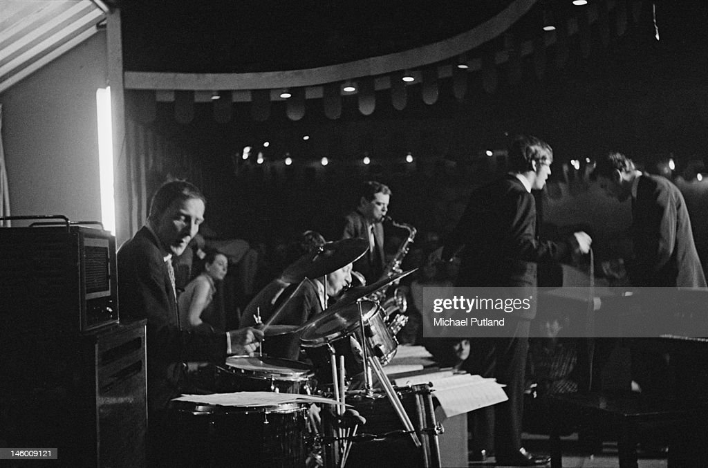 The Harry South Orchestra performs at the Marquee Club in London, 1966.