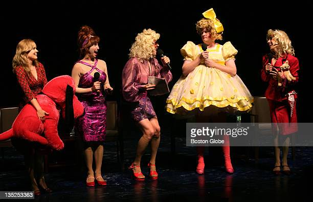 The Hasty Pudding Theatricals welcome the cast of the musical 'Legally Blonde' to Harvard on Tuesday Oct 28 2008 Appearing on a panel discussion are...