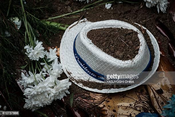 The hat of Marcos Vieira de Souza known as Falcon the president of the Portela samba school and a Progressive Party candidate for Rio de Janeiro city...
