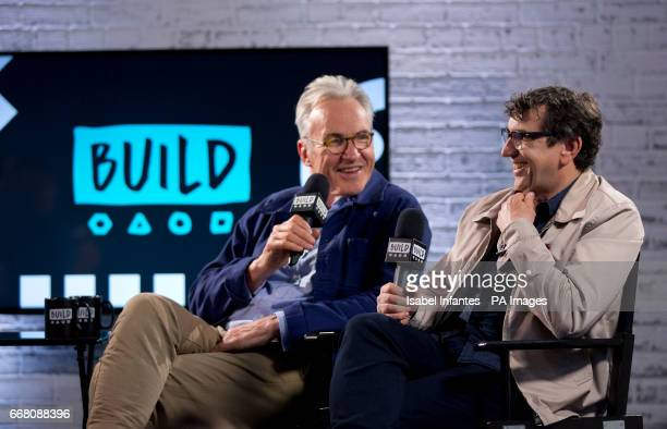 The Hatton Garden Job cast members Larry Lamb and Phil Daniels during a BUILD Series LDN event at the Capper Street Studio in London