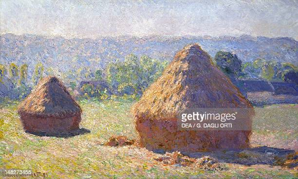 The haystacks at the end of the summer by Claude Monet oil on canvas 60x100 cm Paris Musée D'Orsay