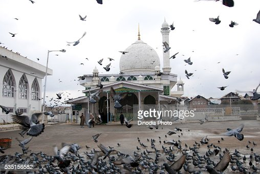 The Hazratbal Shrine in Srinagar, Jammu and Kashmir, India.