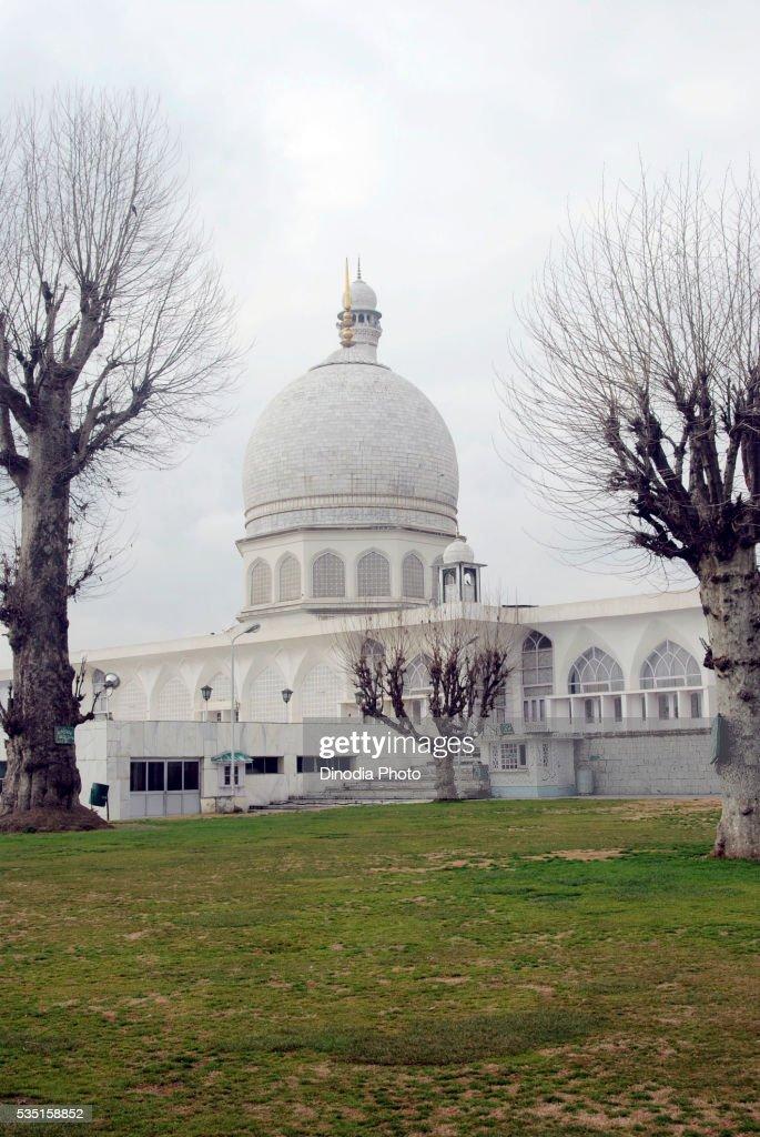 The Hazratbal Shrine in Srinagar, Jammu and Kashmir, India.