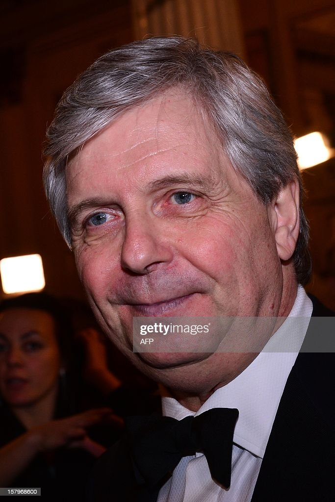 The head of Milan's Scala opera house Stephane Lissner stands in the foyer prior the opening of the season on December 7, 2012 in Milan. The 2012/2013 La Scala opera house season opens with 'Lohengrin' by Richard Wagner.