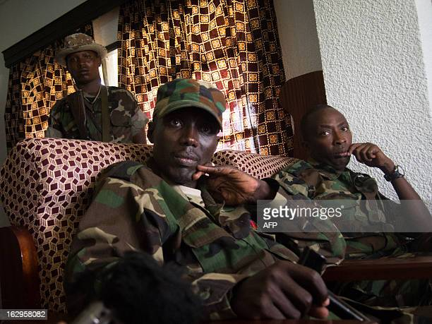 The head of the M23 rebel military forces BrigadierGeneral Sultani Makenga from the Democratic Republic of the Congo sits in a room on March 2 2013...
