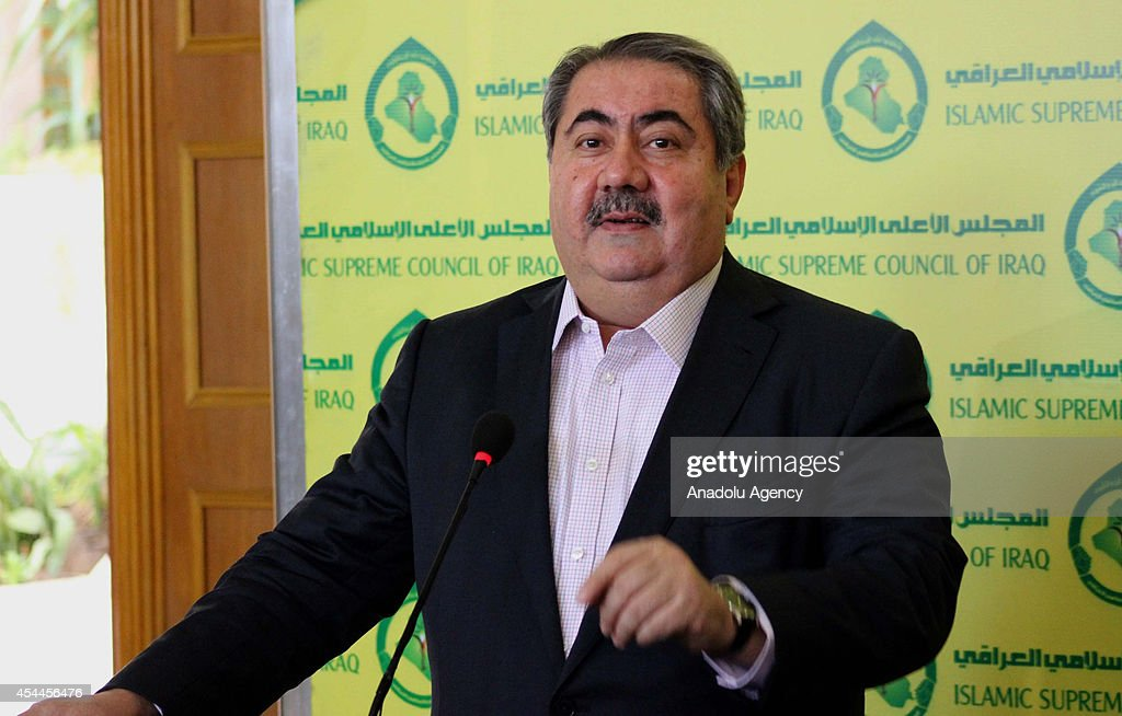 The head of the negotiating team of the Kurdistan Alliance and Iraqi Foreign Minister Hoshyar Zebari speaks during press conference after the meeting...