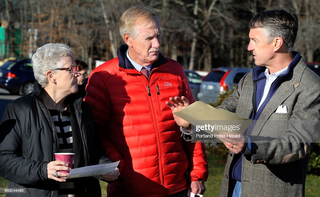 The head of the U.S. Environmental Protection Agency, Gina McCarthy, left, visits Smiling Hill Farm to talk with farmers and U.S. Sen. Angus King about new water quality rules. McCarthy and Senator Angus King were given a tour of the farm by Warren Knight, who owns the farm with his family.
