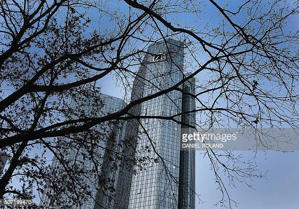 The headquarter of German company Deutsche Bank is pictured in Frankfurt/Main Germany on January 28 2016 Deutsche Bank AG on Thursday reported a 68...