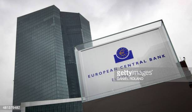The headquarter of the European Central Bank is seen in Frankfurt am Main western Germany on July 20 2015 as Greece has begun making a 42 billion...