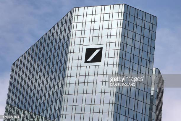 The headquarters buildings of Deutsche Bank Germany's biggest lender are pictured on June 9 2015 as a number of its offices were searched by...