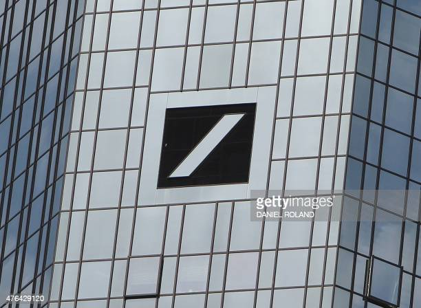 The headquarters buildings with the logo of Deutsche Bank Germany's biggest lender are pictured on June 9 2015 as a number of its offices were...