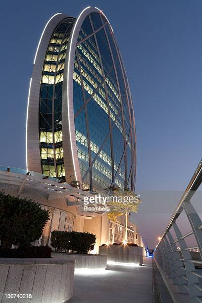 The headquarters of Aldar PJSC stands in Abu Dhabi United Arab Emirates on Tuesday Jan 10 2012 Abu Dhabi the oilrich sheikhdom that spent 36 billion...