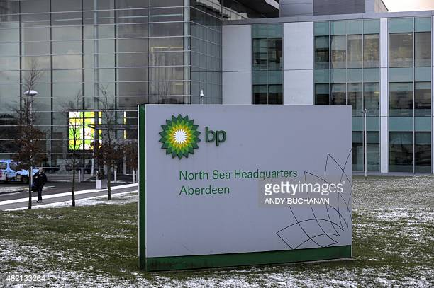 The headquarters of BP are seen in Aberdeen Scotland on January 21 2015 On the docks in Aberdeen oil workers put a brave face on hundreds of job cuts...
