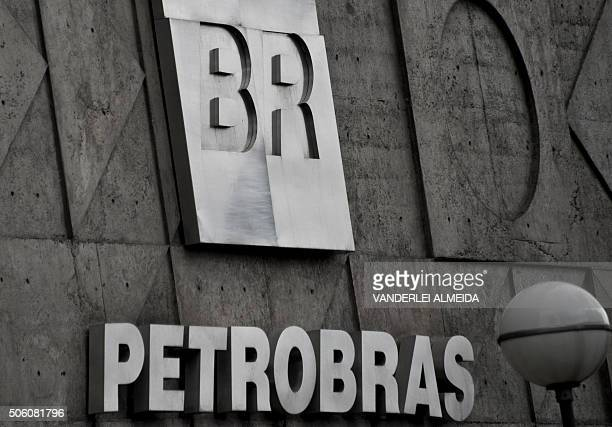 The headquarters of Brazil's stateowned oil company Petrobras in the center of Rio de Janeiro on January 21 2016 Petrobras shares on Brazil's stock...